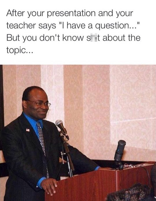 Caught After A Presentation
