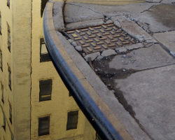 Building Reflection In A Puddle