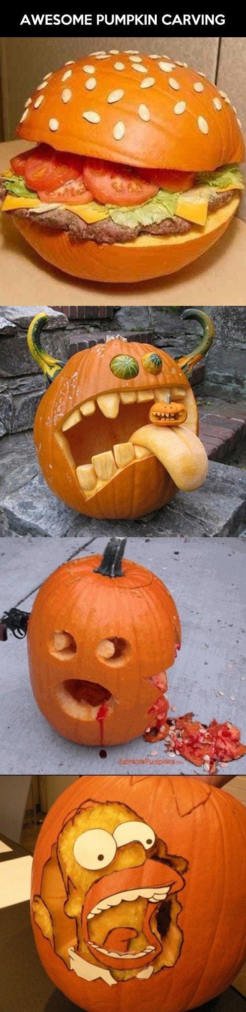 Advanced pumpkin carving...