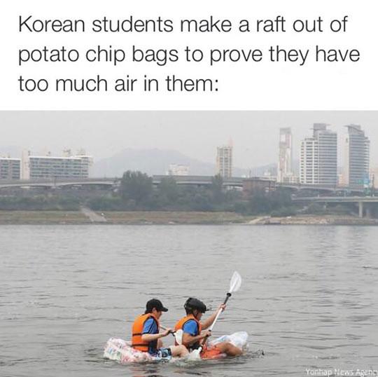 funny-raft-bag-chip-river-Korean