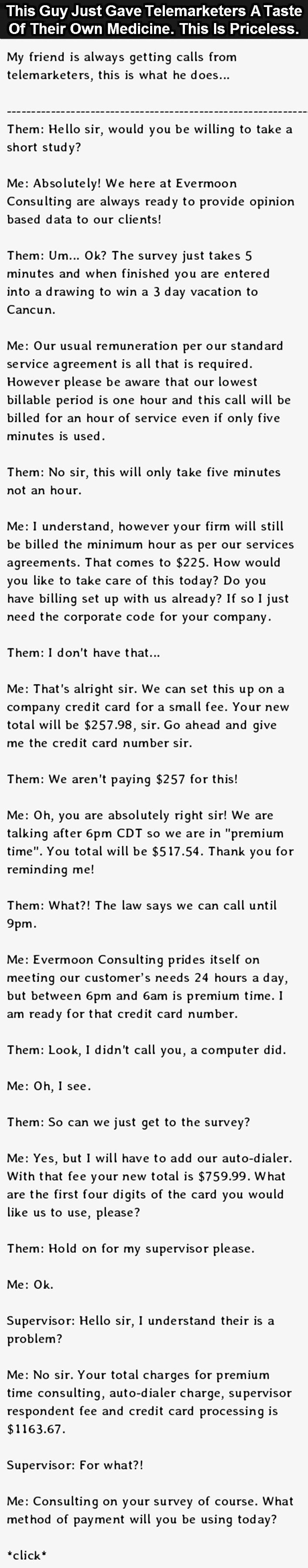 How To Deal With Telemarketers. This Guy Nails it.