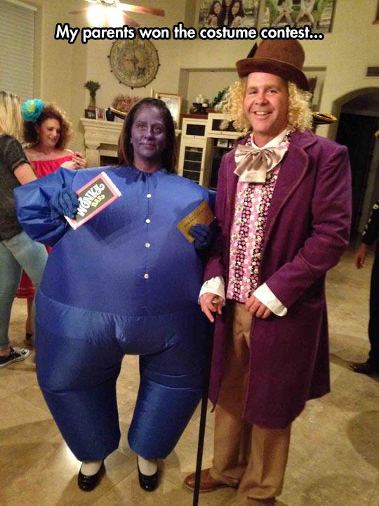 Wonka And Blueberry Girl Costume