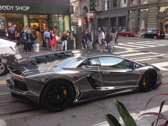 Black Chrome Tron Lamborghini Aventador