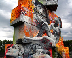 Amazing Graffiti Of Greek Gods On Containers