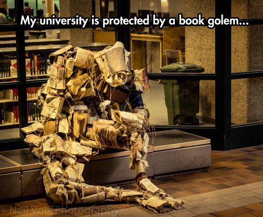 cool-book-golem-statue-art-University