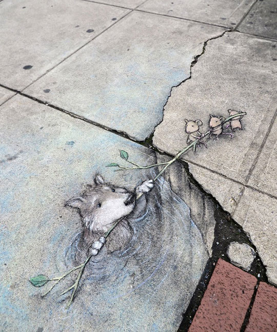 Street Chalk Drawings