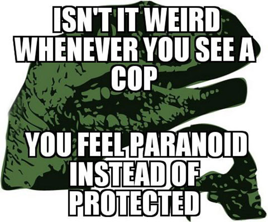 cool-dinosaur-cop-paranoid-trust-issues