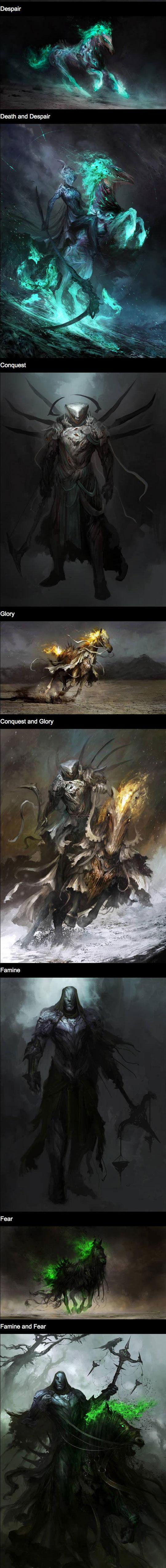 cool-drawing-Horseman-Apocalypse-War-Death