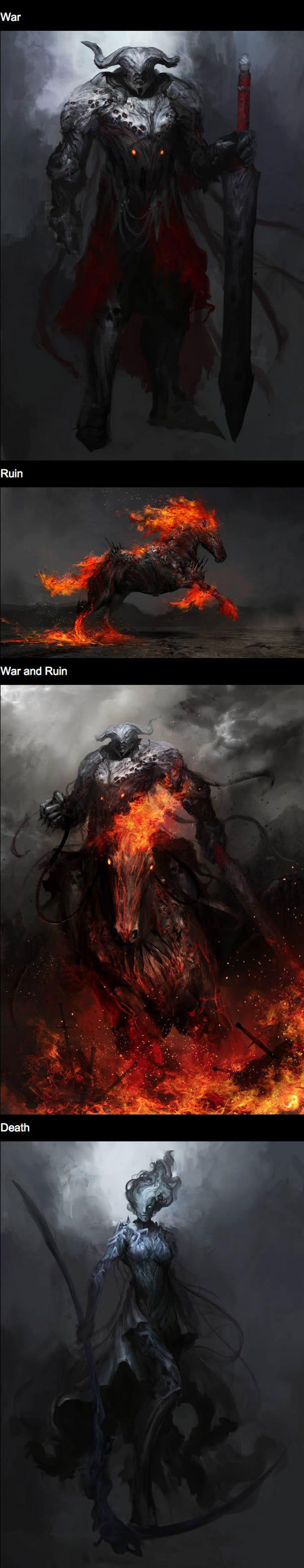 cool-four-horseman-Apocalypse-demons