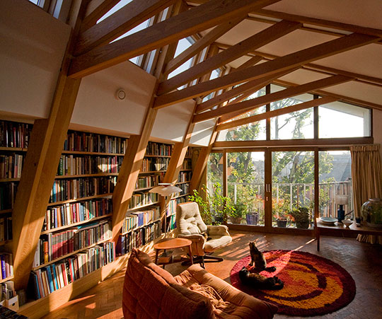 Home library i m really jealous for Cool home libraries