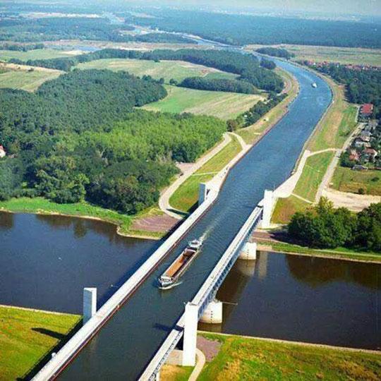 cool-ship-bridge-lake-river