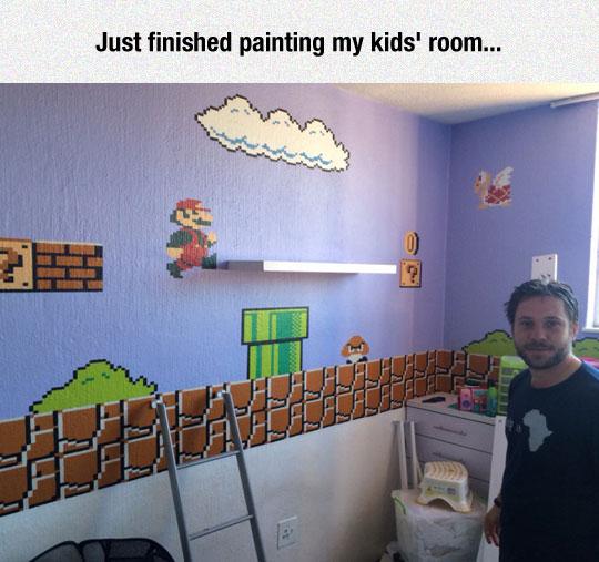 cool-wall-painting-Mario-Bros-world