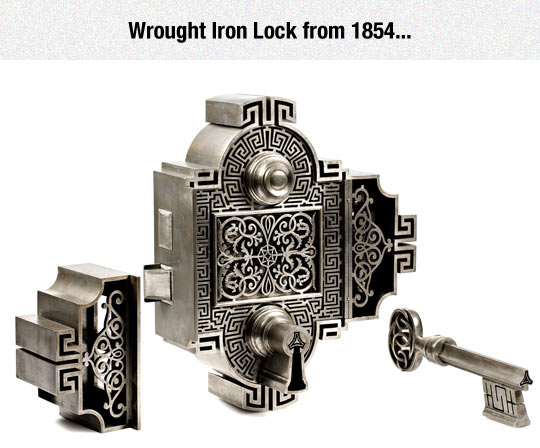 cool-wrought-old-iron-lock-art
