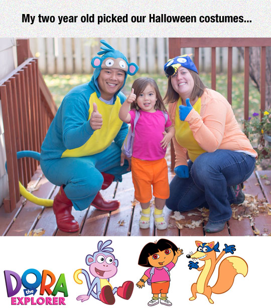 cute-family-costumes-Dora-Explorer