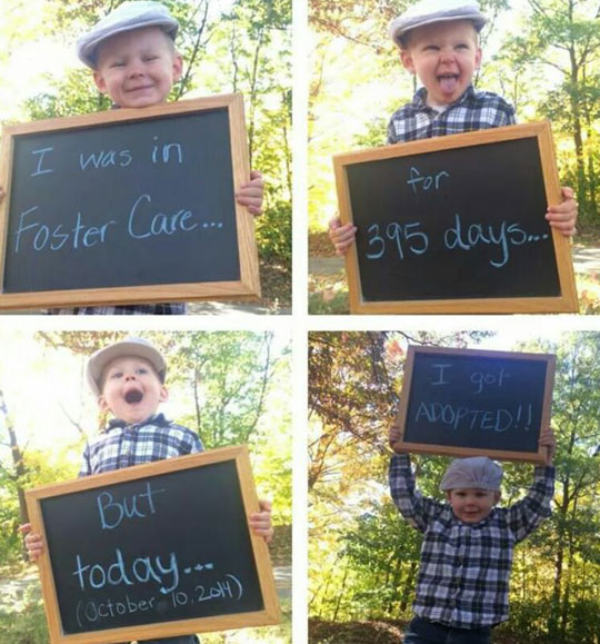 cute-kid-adopted-sign-forest