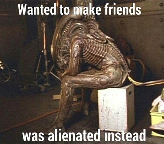 funny-Alien-costume-set-sitting-alone-1