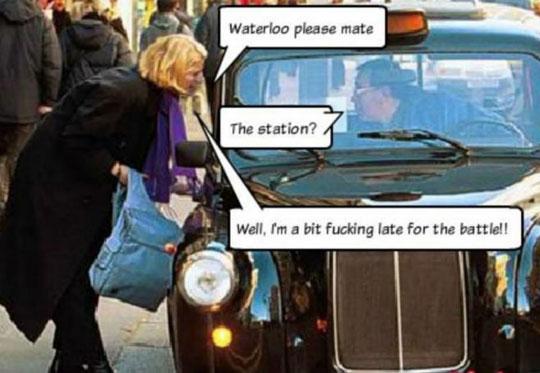funny-British-taxi-Waterloo-battle