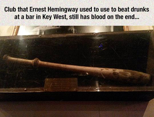 funny-Ernest-Hemingway-bat-blood