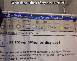 The Shower Cannot Be Displayed