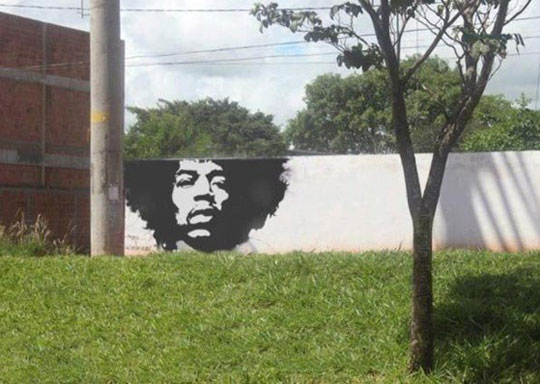 Jimmy Hendrix Green Graffiti