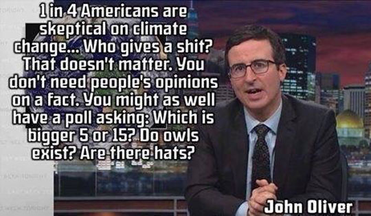 John Oliver And Climate Change Skeptics
