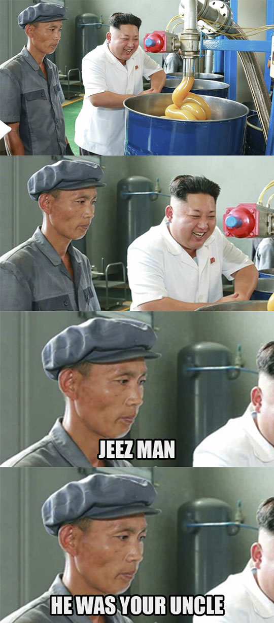 funny-Kim-Jong-un-rubber-factory-laughing