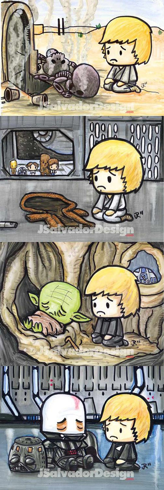 funny-Luke-Skywalker-death-family-comic