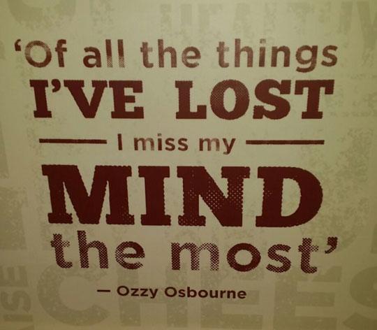 Poor Ozzy Osbourne