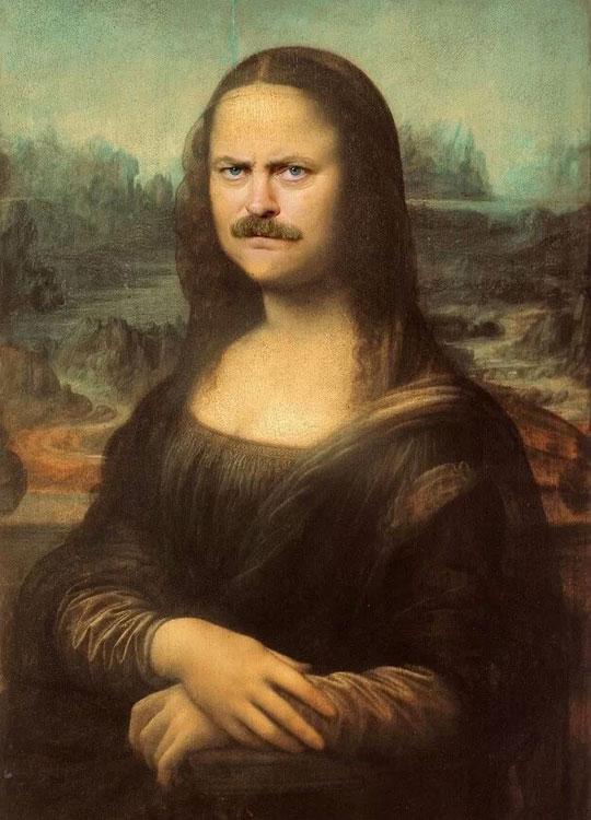 funny-Ron-Swanson-face-Mona-Lisa