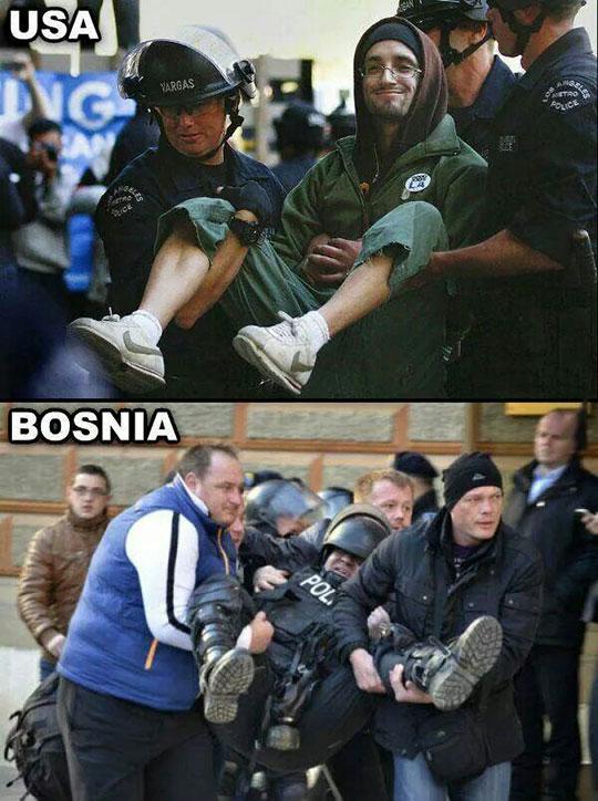 funny-USA-Bosnia-protester-police