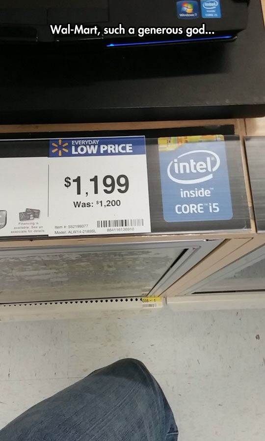 Huge Saving At Wal-Mart