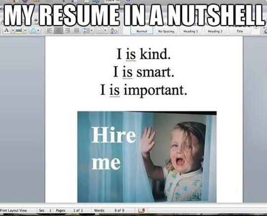 funny-Word-Resume-wrong-grammar