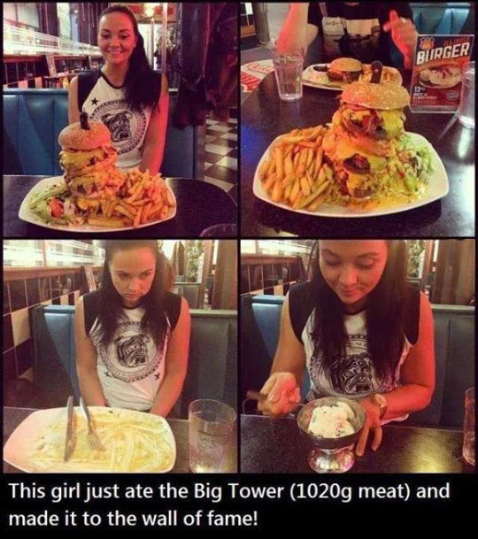 Girl Ate Burger Tower