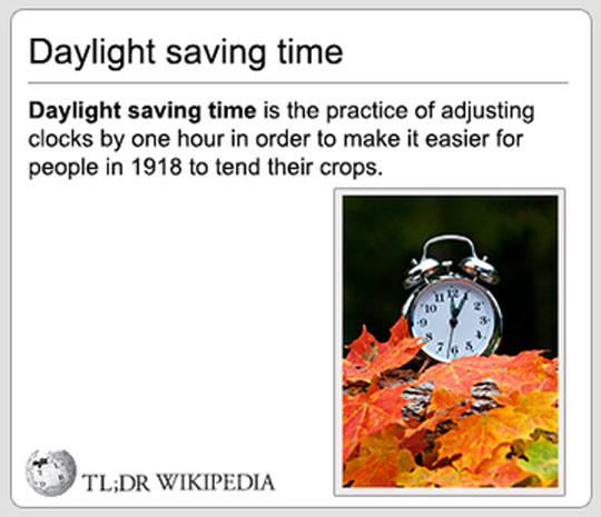 When Daylight Saving Time Comes