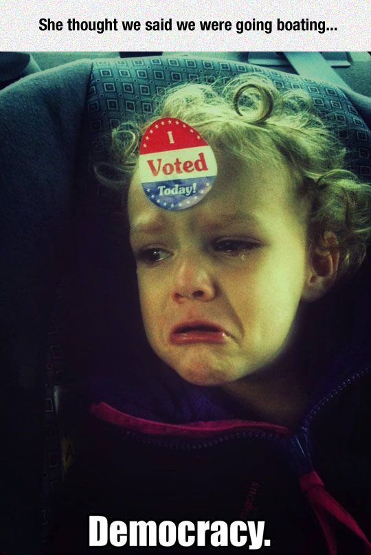 funny-girl-crying-voting-sticker-forehead