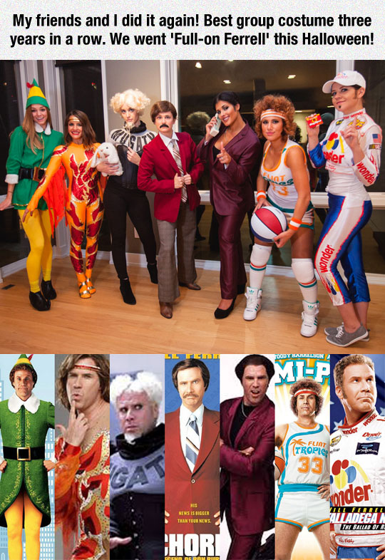 Full-On-Ferrell Halloween Costumes
