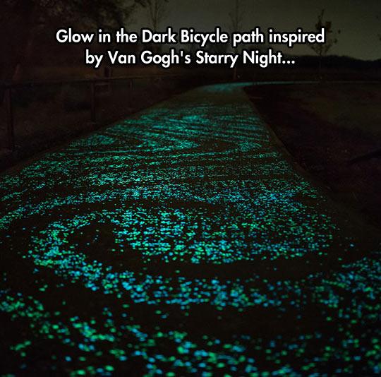 funny-glow-bicycle-path-Van-Gogh
