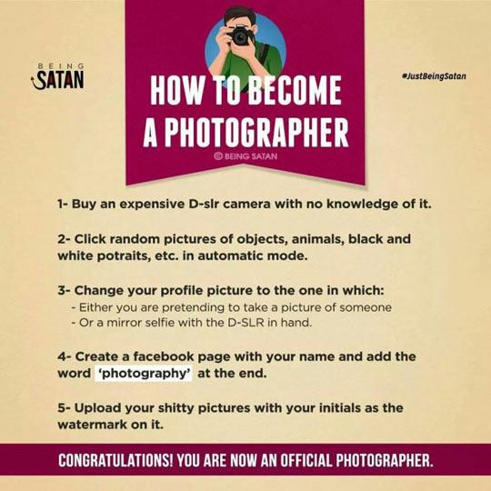 Nowadays Photographers Are A Shame