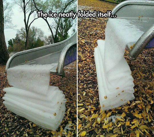 funny-ice-folded-park-cold-slide
