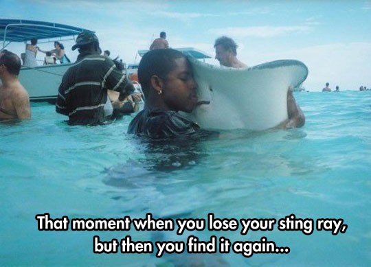 I Love It When I Find My Sting Ray