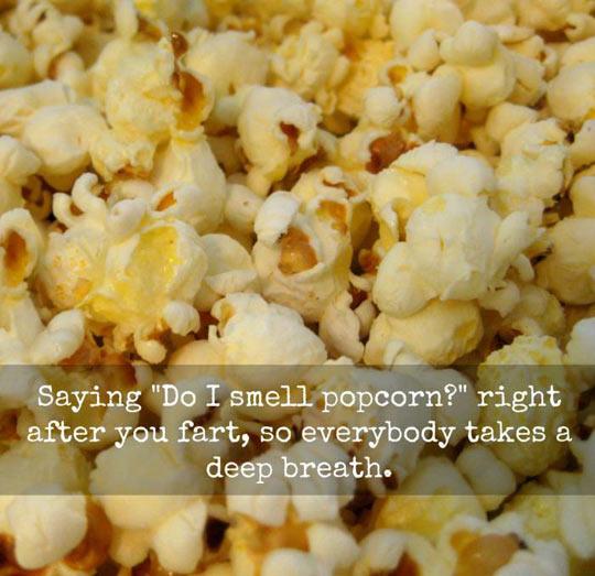 The Popcorn Smell Prank