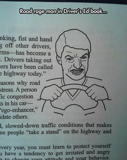funny-road-rage-man-book