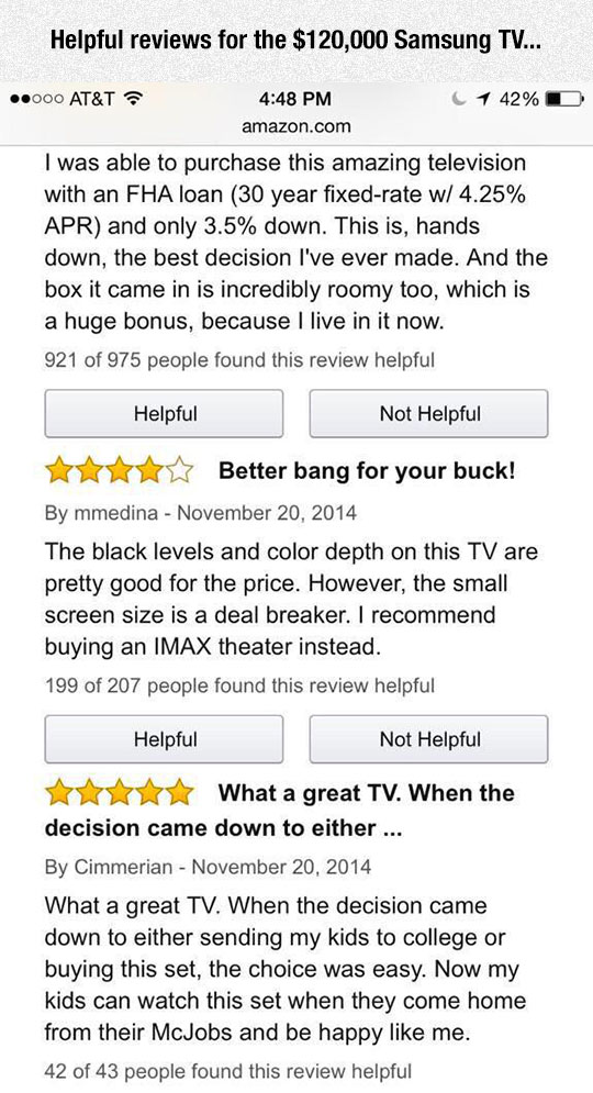 Extremely Expensive TV Reviews