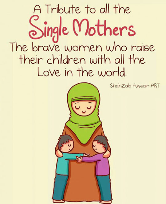 cool-cartoon-single-mothers-children