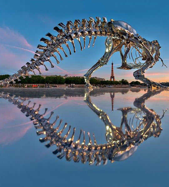 Full-Scale T-Rex In Paris