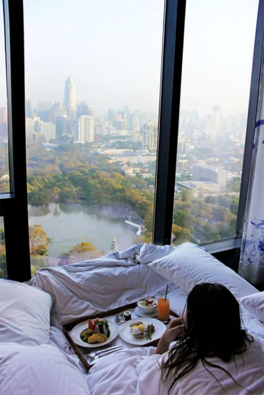 cool-girl-bed-view-park-window