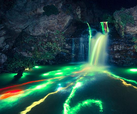 cool-glowstick-waterfall-river