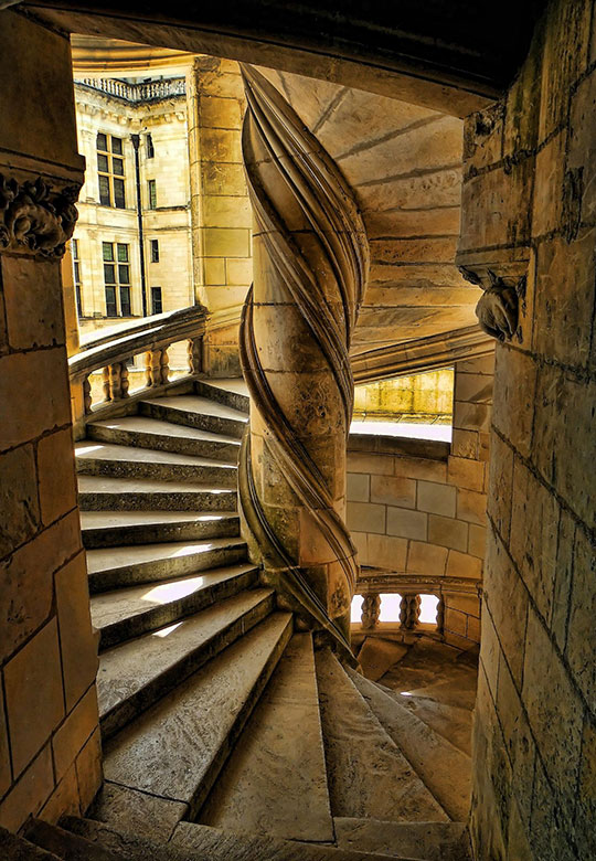 Chambord Castle Stairway, France