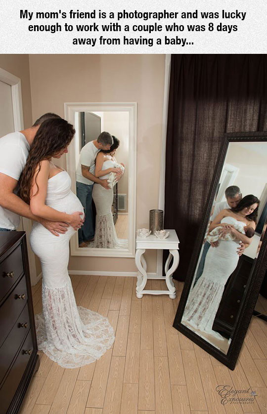 An Amazing Wedding Pregnancy Shot