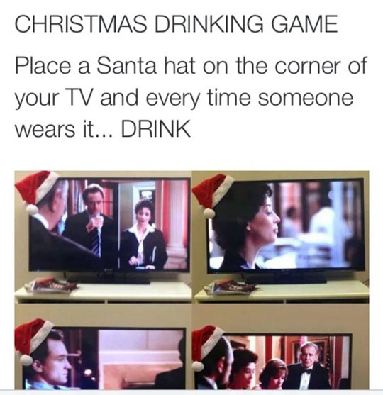funny-Christmas-drinking-game-TV-hat